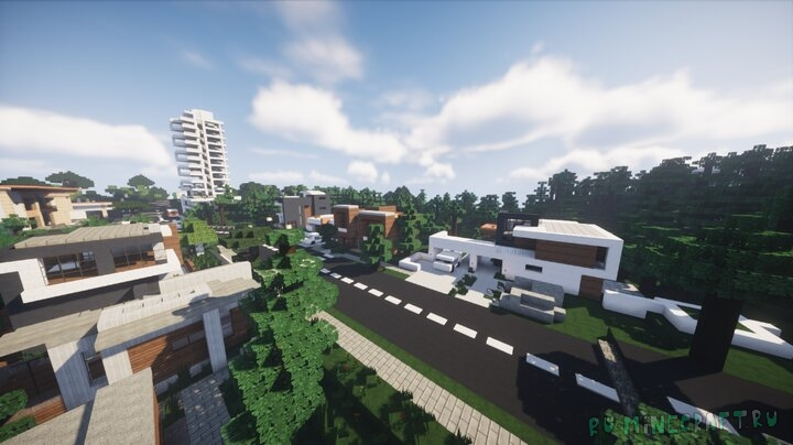 Small Modern City - маленький современный город [1.16] [1.15.2] [1.14.4]