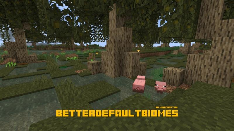 BetterDefaultBiomes - улучшенные дефолтные биомы [1.16.4] [1.15.2]