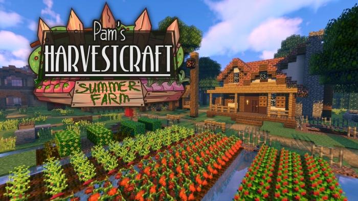 Pam's harvest craft - еда, растения, овощи, фрукты [1.16.4] [1.15.2] [1.14.4] [1.12.2] [1.8.9] [1.7.10]
