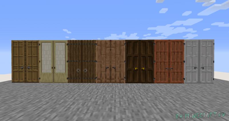 Dramatic Doors - высокие 3х1 двери [1.16.5] [1.15.2] [1.14.4]