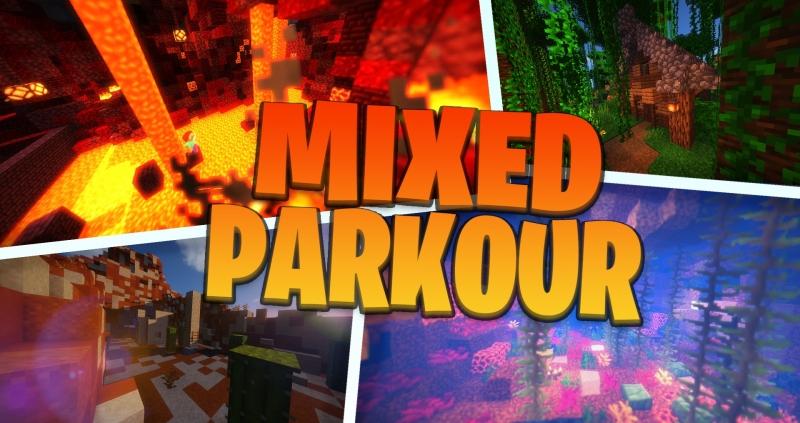 Mixed Parkour - сложная паркур карта [1.15.2]