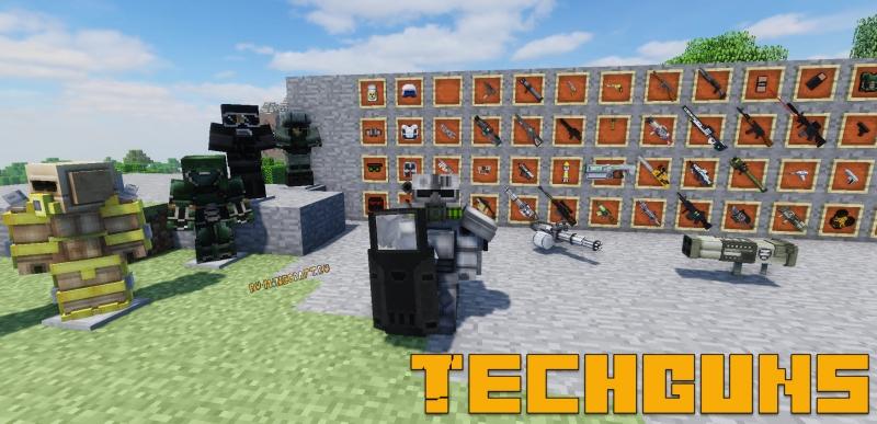 Techguns Mod - оружие, npc, броня, кровь [1.12.2] [1.7.10]