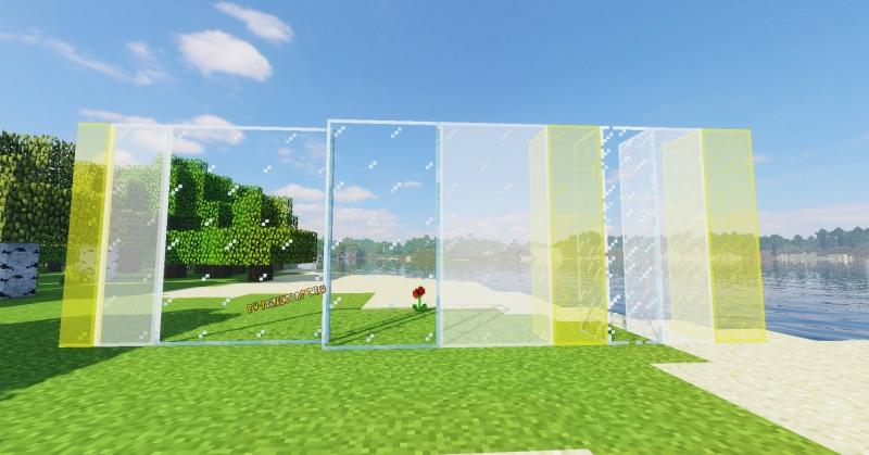Connected Glass - единое стекло + новое стекло [1.16.4] [1.15.2] [1.14.4] [1.12.2]