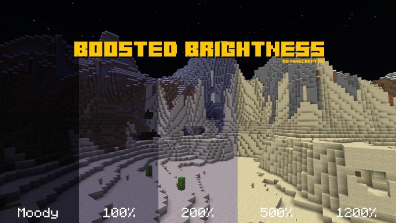 Boosted Brightness - повышенная яркость игры [1.16.3] [1.15.2]