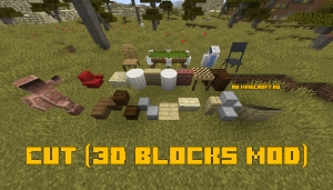 Cut (3D blocks mod) - декоративные блоки [1.15.2] [1.14.4] [1.12.2]