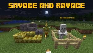 Savage & Ravage - броня грифера и житель-скелет [1.16.5] [1.15.2]