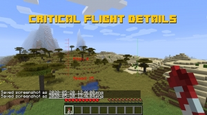 Critical Flight Details - дополнительный худ для полета [1.16.1] [1.15.2]