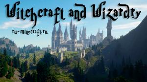 Witchcraft and Wizardry - РПГ карта на прохождение в стиле Гарри Поттера [1.13.2] [+Rus]