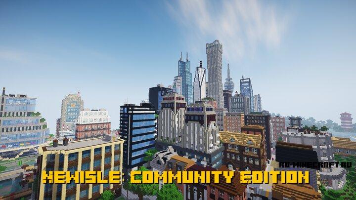 Newisle: Community Edition - большой и разнообразный серверный город [1.16] [1.15.2]