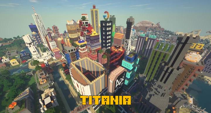 Titania - оригинальный город [1.16] [1.15.2] [1.14.4]