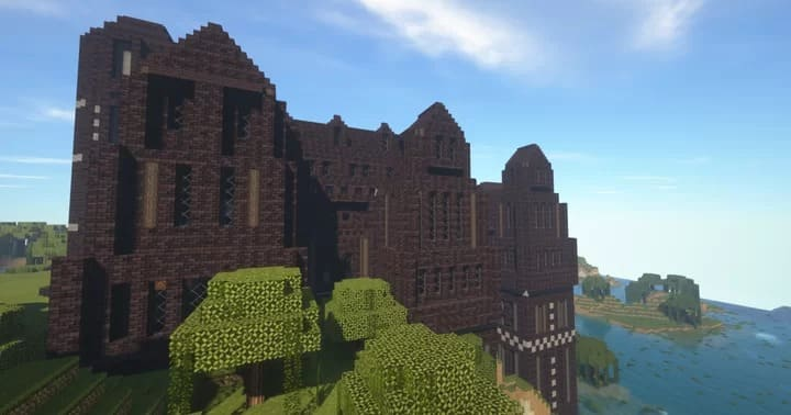 Large Tudor/Gothic Dark Creepy Mansion - мрачное поместье [1.16] [1.15.2]