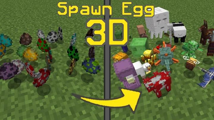 Spawn Egg 3D - 3д модели мобов вместо яиц [1.16] [1.15.2] [1.14.4] [16x]