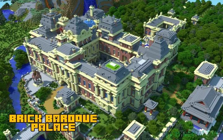 Brick Baroque Palace - поместье в стиле барокко [1.16] [1.15.2]