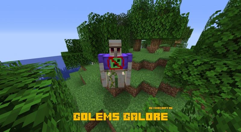 Golems Galore - больше големов, новые виды големов [1.16.5]