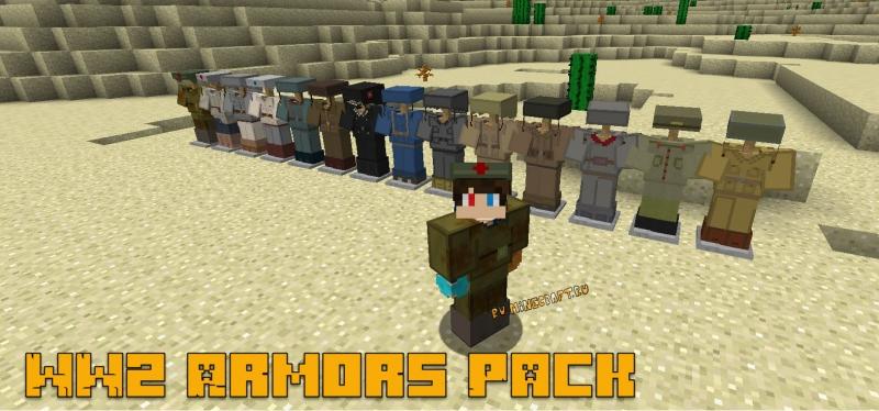 WW2 Armors Pack - пак брони, формы войск стран участников Второй Мировой войны [1.12.2]
