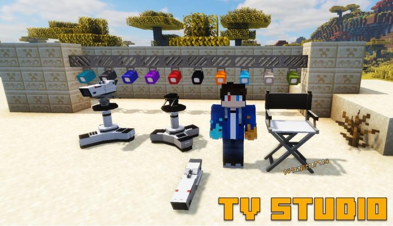Tv studio mod - декор теле-студии [1.17.1] [1.16.5] [1.15.2] [1.14.4] [1.12.2]