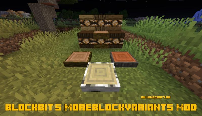 BlockBit's MoreBlockVariants Mod - лампы в дереве [1.15.2]