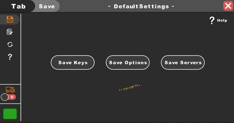 DefaultSettings - сохранение копии настроек [1.17.1] [1.16.5] [1.15.2] [1.14.4] [1.12.2] [1.8.9] [1.7.10]