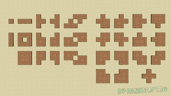 Connected Logs - соединённые стволы дерева [1.15.2] [16px]