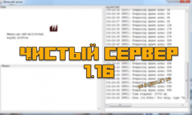 Чистый сервер Майнкрафт 1.16.3 (официальный сервер)