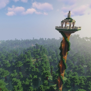 Towers Of The Wild - дикая башня, новая структура [1.16.4] [1.15.2] [1.14.4]