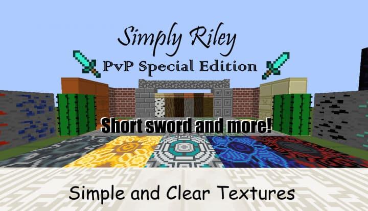 Simply Riley PvP Edition - минималистичный ПВП ресурспак [1.16.1] [1.15.2] [16x]