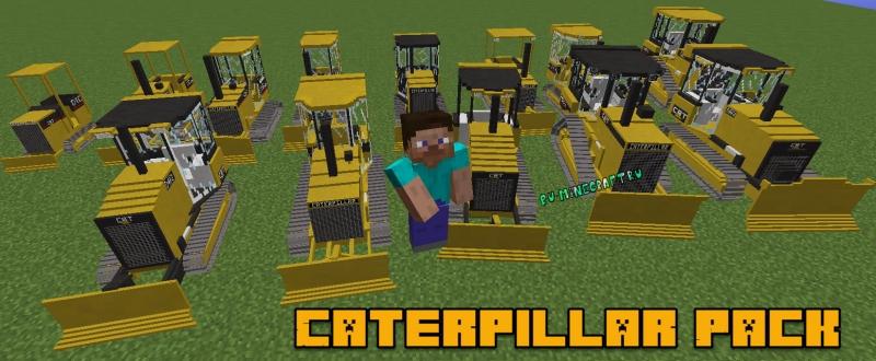 Caterpillar Pack - тракторы и строительная техника, бульдозеры [1.12.2] [1.11.2] [1.10.2]