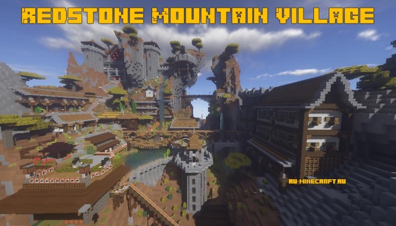Redstone Mountain Village - редстоун деревня [1.16.1]