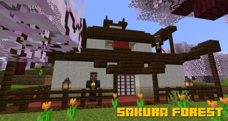 Sakura Forest - лес с сакурой [1.15.2]