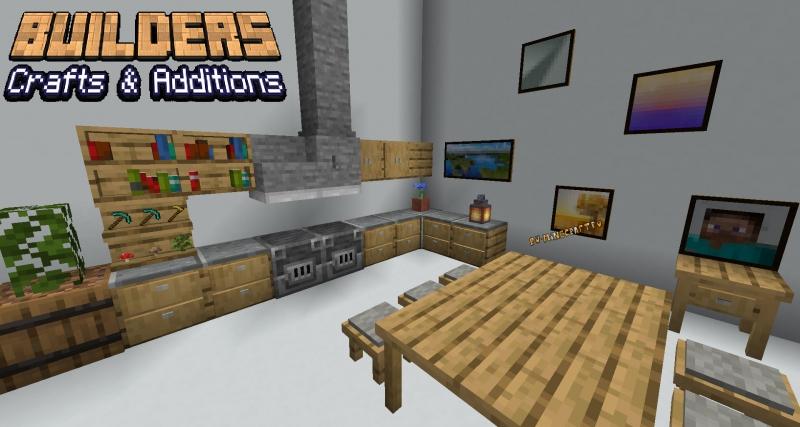 Builders Crafts & Additions - небольшой мод на новою мебель [1.16.4] [1.15.2]