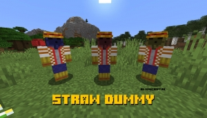 Straw Dummy - манекены для битья [1.16.1]