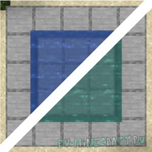 BedrockWaters - вода из версии bedrock, цвет зависит от биома [1.16.5]