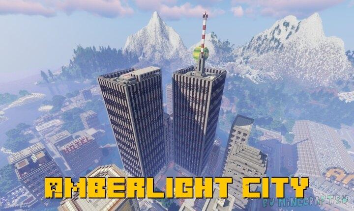 Amberlight City - большой город с достопримечательностями [1.16.2] [1.15.2]