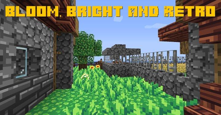 Bloom, Bright and Retro - превосходный ретро ресурспак [1.16.4] [1.15.2] [16x]
