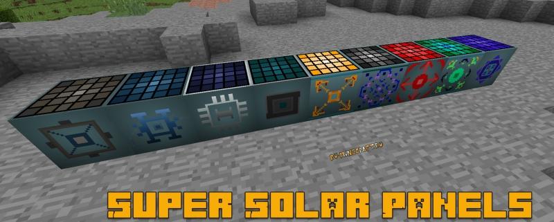 Super Solar Panels - солнечные панели для индастриала [1.12.2] [1.11.2] [1.10.2] [1.7.10]