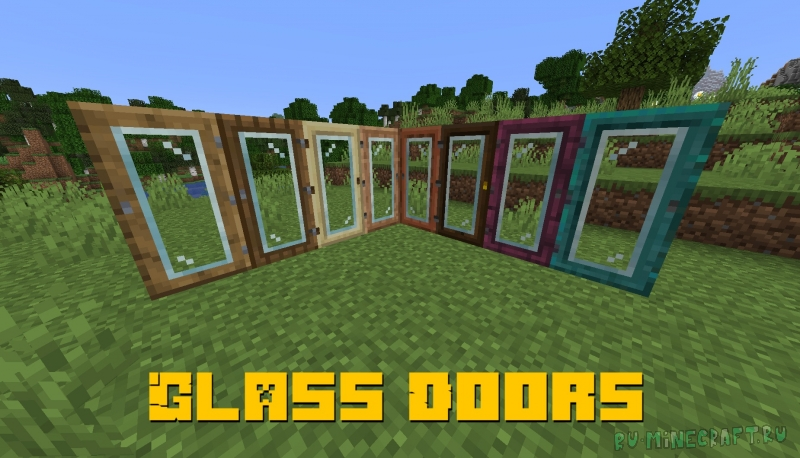 Glass Doors - двери со стеклом [1.16.2]