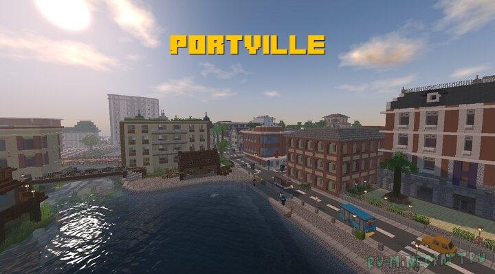 Portville - город с работающими машинами [1.16.2]