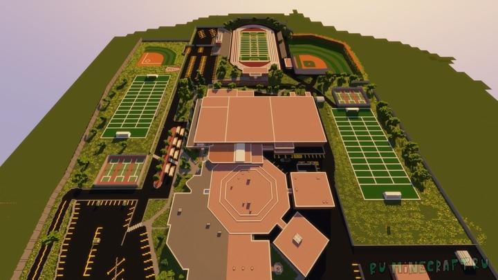 Harrison High School Build - большая школа [1.16.3] [1.15.2]