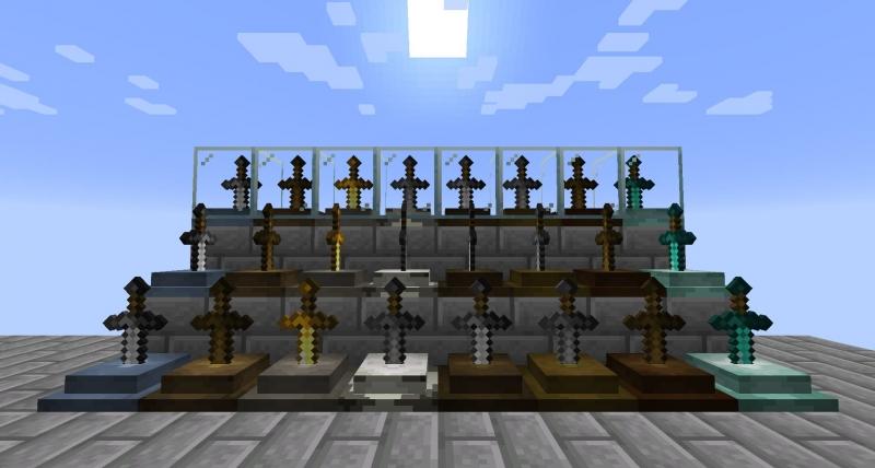 Sword Displays - тумбы для показа мечей [1.16.3] [1.15.2] [1.14.4]