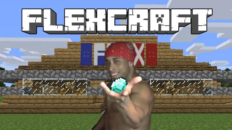 FlexCraft - видео Рикардо Милос играет в майнкрафт