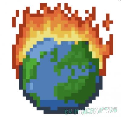 Flammable Everything - огненный мир [1.15.2]
