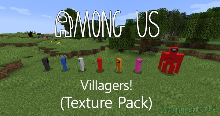 Among us Villagers Texture Pack - текстуры по among us [1.16.3]