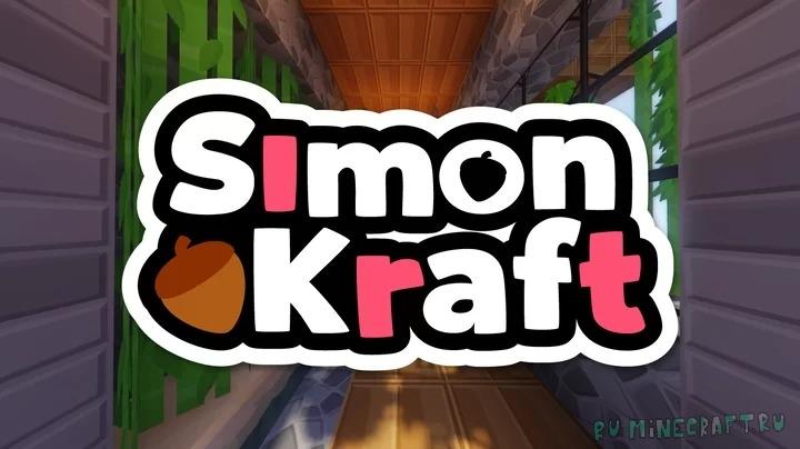 SimonKraft - картонный ресурспак в высоком разрешении [1.16.3] [128x]