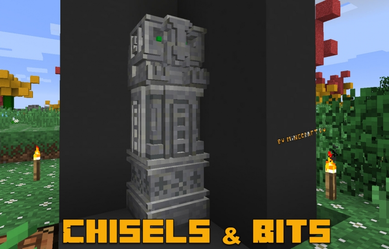 Chisels & Bits - чизел энд битс, маленькие блоки [1.16.4] [1.12.2] [1.11.2] [1.10.2] [1.8.9]