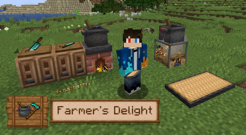 Farmer's Delight - новые продукты, предметы для готовки [1.16.5] [1.15.2]