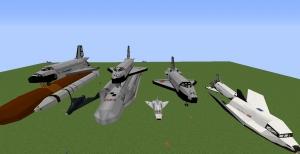 Flan's Mod Space Race Content Pack - пак космической техники для Фланс [1.12.2]