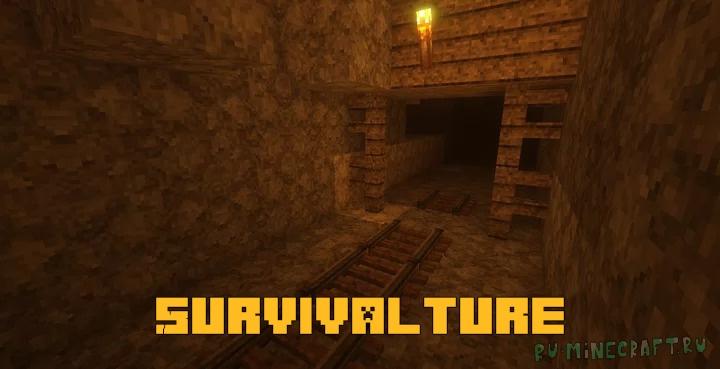 Survivalture - темный криповый ресурспак [1.17] [1.16.4] [1.15.2] [32x]