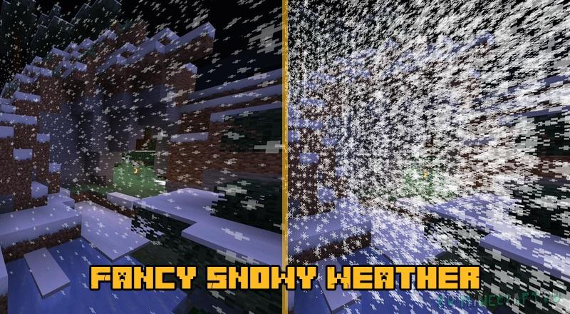 Fancy Snowy Weather - улучшенная зимняя погода [1.16.5]
