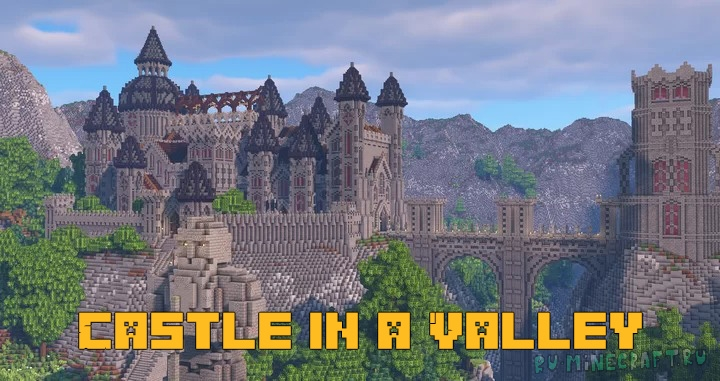 Castle in a Valley - замок в долине среди гор [1.16.4]