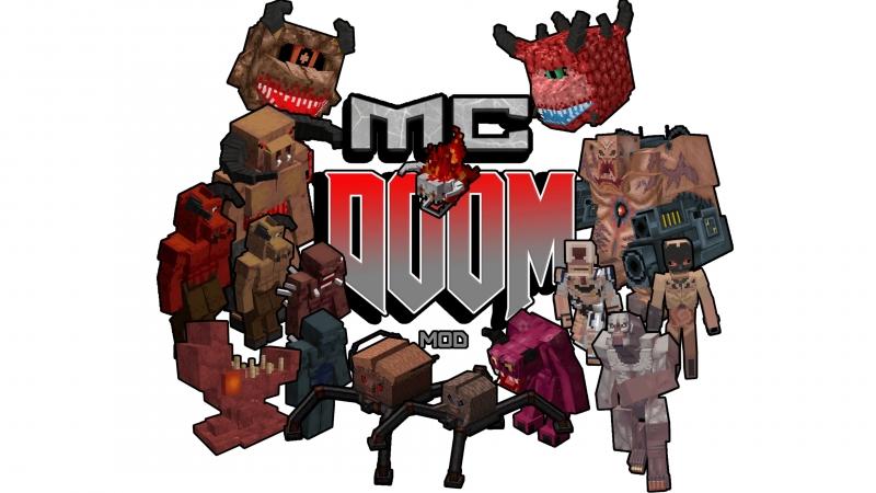 MCDoom (AzureDoom's Doom Mod) - оружие, мобы, броня и блоки из Дуум [1.16.4] [1.15.2] [1.14.4] [1.12.2]